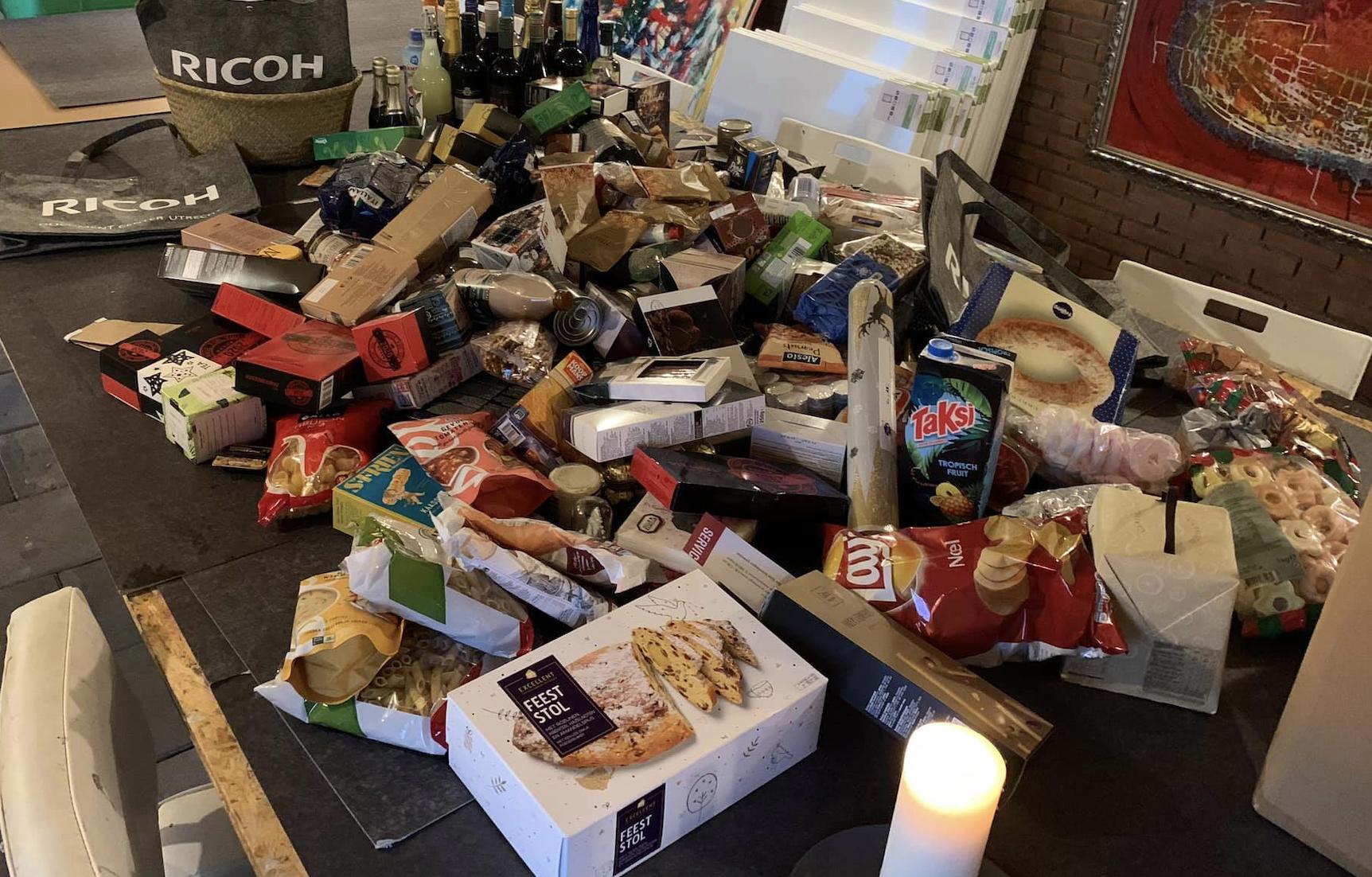 inzamelingsactie ricoh midden nederland voor voedselbank